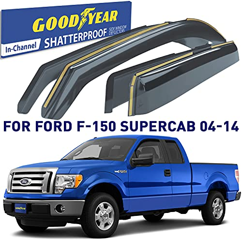 Goodyear Shatterproof in-Channel Window Deflectors for Trucks Ford F150...