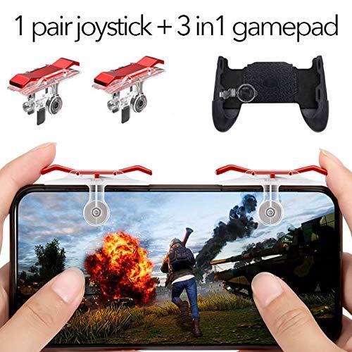Alician Gamepad Joystick voor PUBG mobiele controller L1 R1 schieten handvat Gamepad voor messen uit Trigger Fire Game Joystick, Rood
