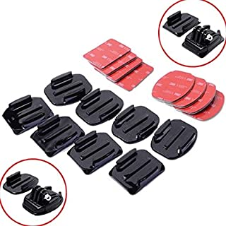 HYLong 8Pcs Flat Curved Adhesive Mount Helmet Accessories For Gopro Hero 1/2/3