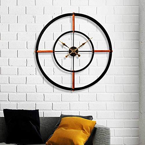 Reloj de pared de metal, decoración de rayos solares 3D, relojes silenciosos, relojes de pared de...