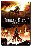 Dreamawsl Attack on Titan Poster - Japan Anime Poster Metal