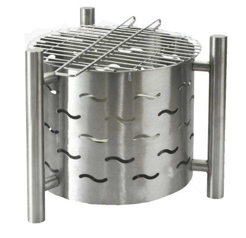 Tepro Feuerstelle mit Grillfunktion Silverado, Silber