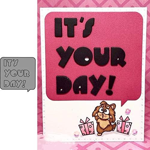 It's Your Day Callout Plantillas de troqueles de corte de metal para...