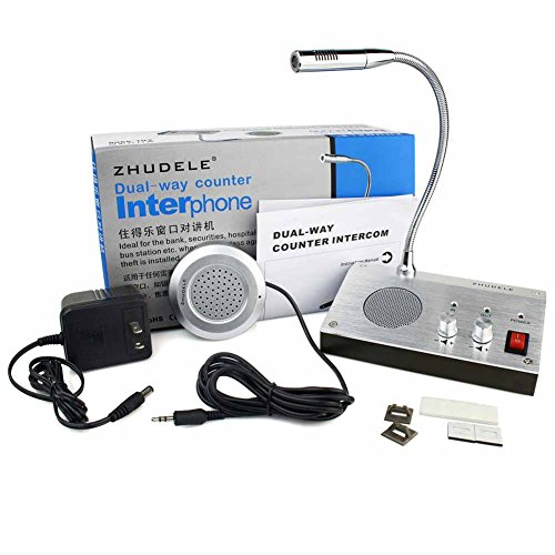 Higoo ZDL-9908 Bank/Office/Store/Station Counter Window Intercom System, Dual-way Intercommunication Microphone, Interphone System
