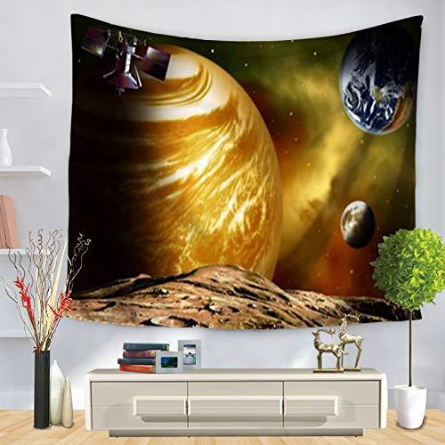 KHKJ Mandala Starry Sky Tapiz para Colgar en la Pared Macrame Bohemio Arte de la Pared Manta Decoración para el hogar Sábanas de Dormitorio Multicolor Estera de Yoga A24 200x150cm