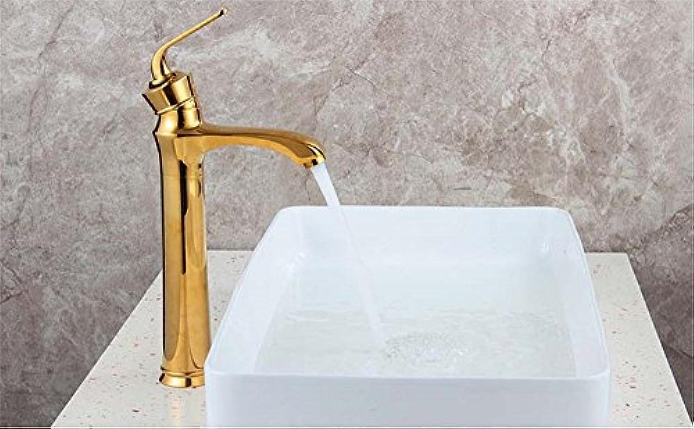 AQMMi Waschtischarmatur Wasserhahn Einzelne Bohrung Einhebelsteuerung, Warmes Und Kaltes Wasser Mischbatterie Waschtisch Armatur Für Bad