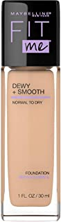 Maybelline New York Fit Me dewy +smooth Liquid Foundation, 125 nude beige, 30ml
