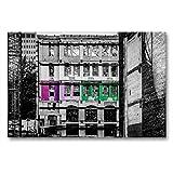 Premium Textil-Leinwand 90 x 60 cm Quer-Format Bunte Ruine,