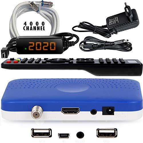 petit un compact Récepteur Câble Mini Sat HD HD-90 – Récepteur Satellite S / S2 ✓ Full HD ✓ 1080P ✓ HDMI ✓ 2x USB 2.0…