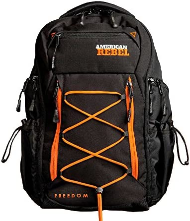 Tactical Concealed Carry Durable Backpack Medium Black Orange Freedom Bag for Every Day Use product image