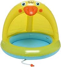 Pratcgoods Sun Protection Pool Baby Play Gear Duckling Splash Pool with Canopy Spray Pool Water Sprinkler Toys