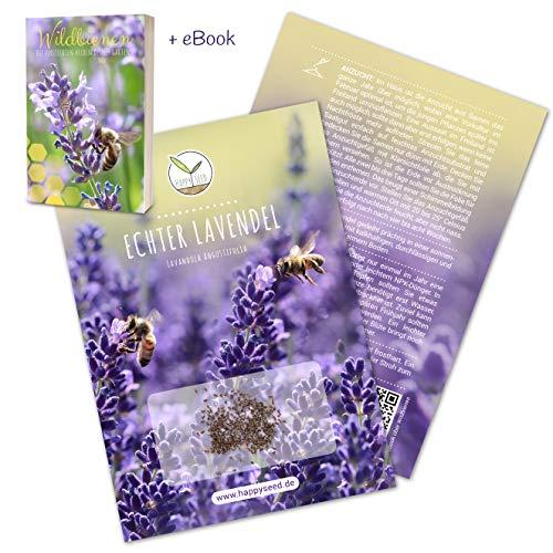 300x Lavendel Samen mit hoher Keimrate - Vielseitig einsetzbare Heilpflanze & ideal für Bienen und Schmetterlinge (inkl. GRATIS eBook)