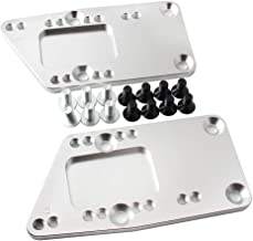 Htostar Racing Universal Swap Bracket Small Block, Motor Mount Adapter Plate, LS Conversion Adjustable LS1 LS3 LS2 LQ4 LQ9...