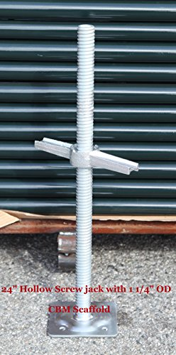 CBM Scaffold 24' Adjustable Leveling Screw Jack with 1 1/4' OD Model# SJHL1
