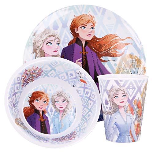 Frozen Frozen - Vajilla infantil con plato, cuenco y vaso