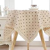 XYZG Manteles Mantel Cubierta de Muebles de Lino de algodón Manteles de Encaje de algodón Mantel Rectangular Mantel Estampado a Cuadros Mantel de Punto Cubierta de Mesa Cuadrada-Zou Ju_110x160cm