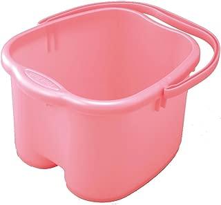 Inomata Foot Detox Massage Spa Bucket, Pink