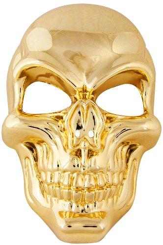Nick and Ben Totenkopfmaske Gold! Rapper Maske!