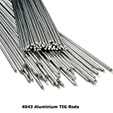 4043 Aluminium TIG Welding Rods 33cm Wire Filler 1.6mm 2.4mm 3.2mm 5% Silicone by <span class='highlight'>BMF</span> <span class='highlight'>DIRECT</span>® (100, 1.6mm)