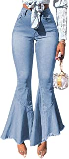 Women's High Waist Flared Jeans Bell Bottom Flared Jeans