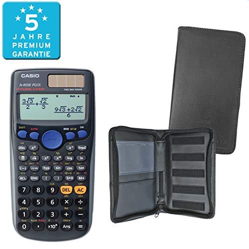 Casio FX-85DE Plus (SCHULpaket) + Erweiterte Garantie + Schutztasche : calcumio Artikel Set