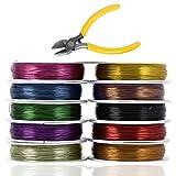 SourceTon, filo di rame resistente all'ossidazione per gioielli (calibro 26), confezione da 10
