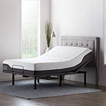 Lucid L600 Adjustable Bed Base Frame - Bluetooth Compatible with Companion App, Head and Foot Incline, Massage, Under Bed Lighting, Dual USB Charging Stations, Upholstered - Full