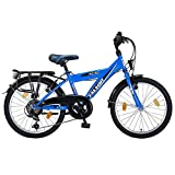 20 Zoll Kinderfahrrad 6-Gang Shimano mit Alufelgen und Beleuchtung EU-Produkt Farbe blau-schwarz Talson