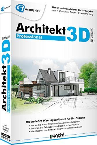 Avanquest Architekt 3D v20 Professional inkl. Gartenplaner & E-Books