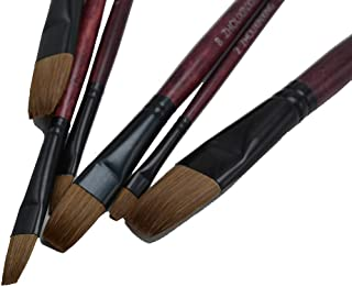 6pcs/Set,Artist Oil Painting Brushes Weasel Hair Water chese Painting Brush Acrylics Set Drawing Art Supplies Painting Tools