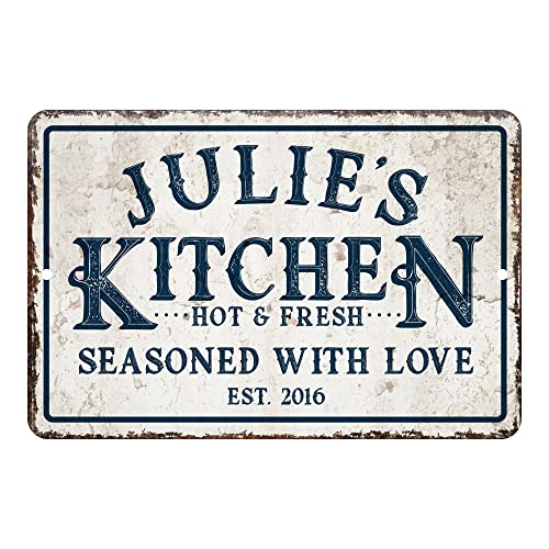 Personalized Vintage Distressed Kitchen Sign
