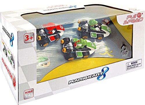Pull & Speed 15813010, Nintendo Mario Kart 8, 3 Vehículos (Mario, Luigi y Yoshi), 13 x 15 x 26 cm