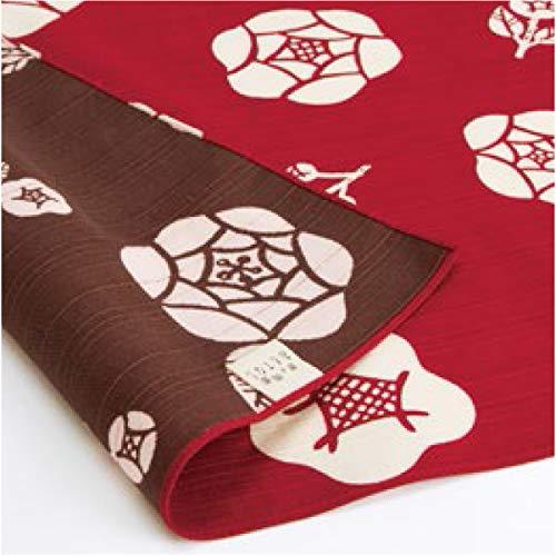 お弁当箱 用 風呂敷 リバーシブル 綿 ふろしき 京の両面おもてなし 薔薇 深緋 50cm