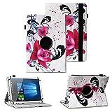 NAUC Schutzhülle kompatibel für TrekStor Surftab Breeze 10.1 Quad 3G Tablet Hülle Tasche Schutzcase Cover 360° Drehbar Hülle, Farben:Motiv 5