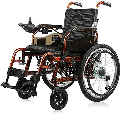 Silla de ruedas eléctrica Silla de ruedas eléctrica, inteligente plegado totalmente automático silla de ruedas portátil discapacitados motor 250W24V20AH cable eléctrico de la batería / cambio de modo