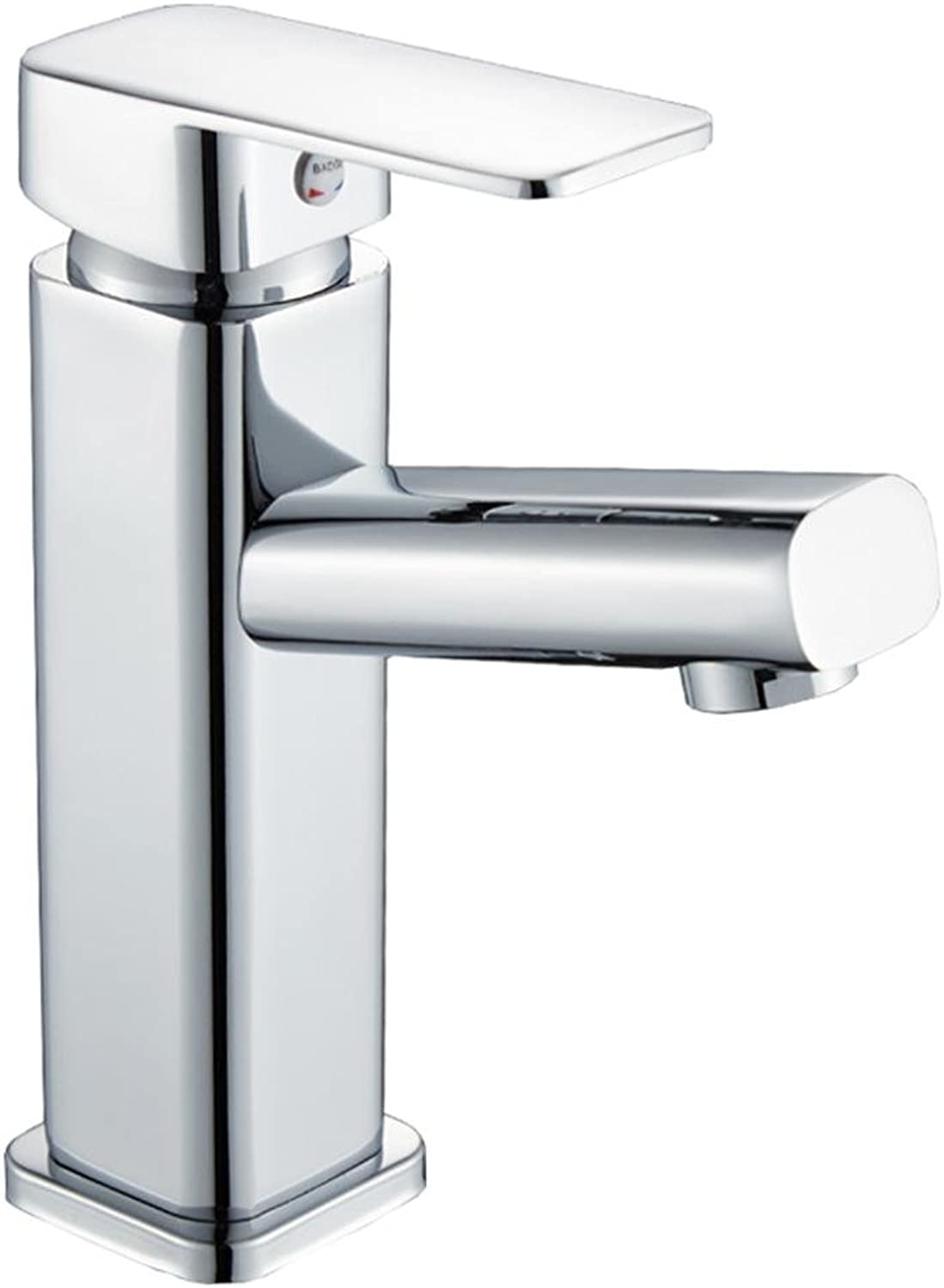 TOYM UK- All Copper Basin Hot And Cold Taps Bathroom Washbasin Single Hole Faucet