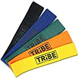 Tribe Lifting Fabric Resistance Bands | No Snap Booty Bands for Exercise, Home Gym, Physical Therapy | 12' x 2' (5-Pack)