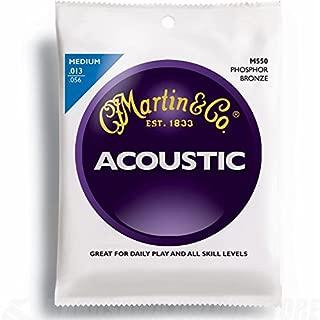 C.F. Martin & Co. M550 Phosphor Bronze Acoustic Guitar Strings, Medium