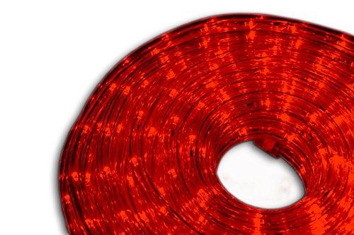 Nipach GmbH 20m LED Lichterschlauch Lichtschlauch rot – Innen- und Außenbereich – energiesparende Leucht-Dekoration für Garten Fest Weihnachten Hochzeit Gesamtlänge ca. 21,50 m