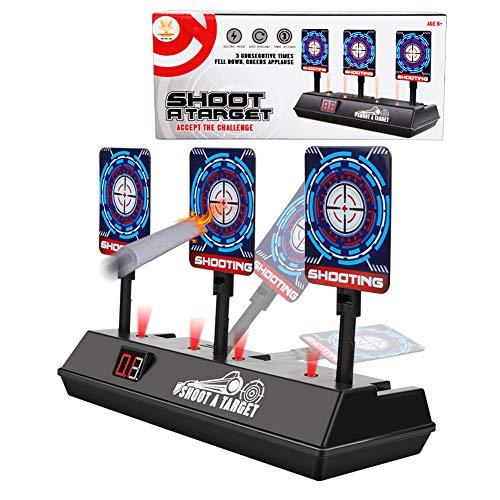 Zorara Nerf Zielscheibe, Zielscheibe für Nerf Auto Reset Elektrisch Nerf Zielscheibe für N-Strike Elite Nerf Mega Nerf Rival Series, Digital Nerf Zielscheibe mit Ton und Lichteffekt (Blau)