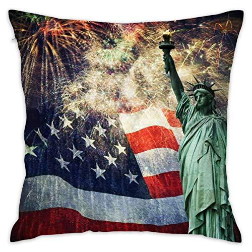 surce Amerikaanse vlag 4 juli Zachte Comfortabele Houd Kussen Cover Kussens Gooi Kussen Thuis Decoratieve Kussensloop 18