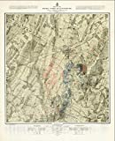 Historic Pictoric Art Print : Map of The Battlefield of Gettysburg July 1st, 2nd, 3rd 1863 (3rd Day), 1876, v1, Vintage Wall Art : 16in x 20in