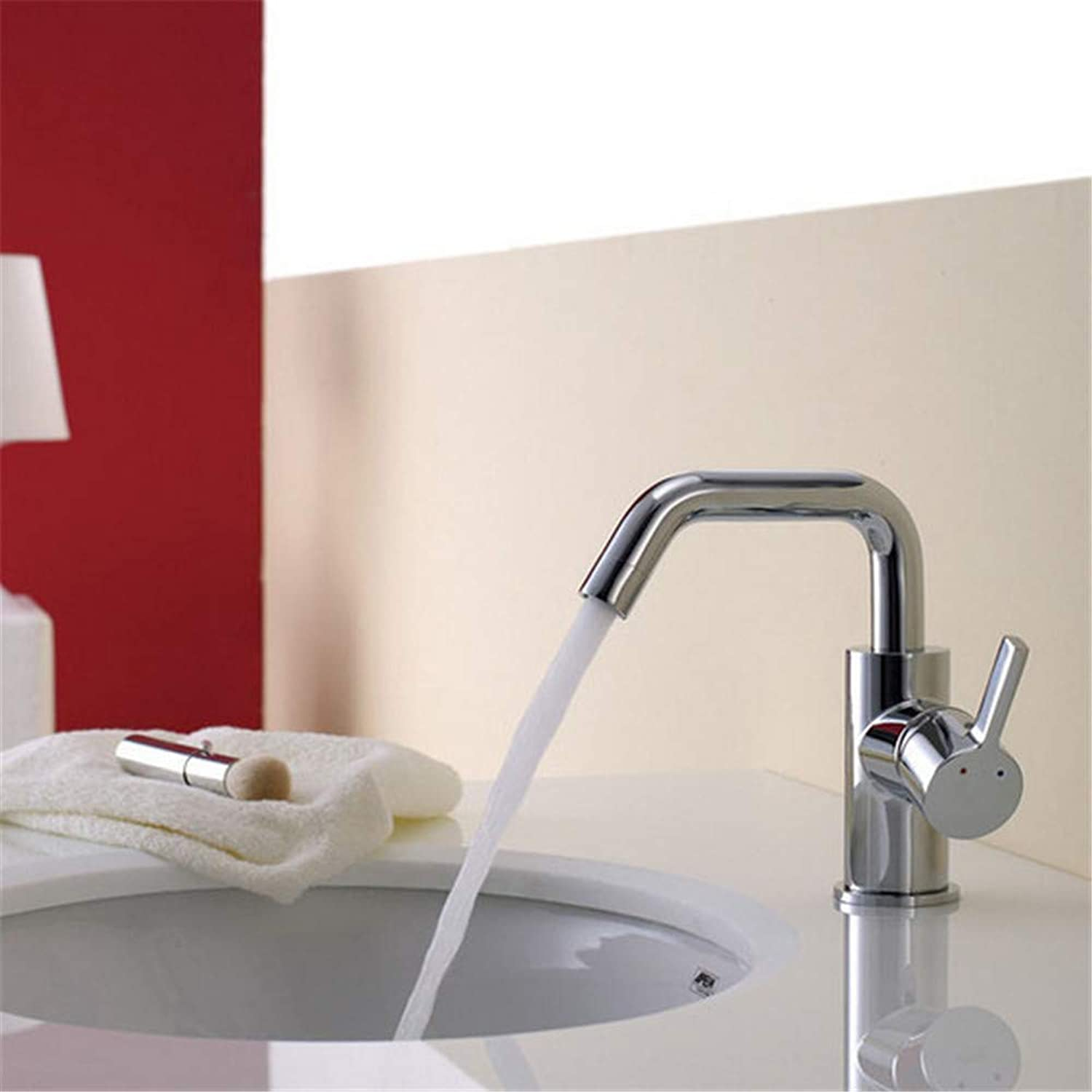 Sink Chrome-Plated Brass Mixer with Single Handle Hot Cold Bathroom Basin Sink Mixer Taps Sanitary Ware Basin Faucet