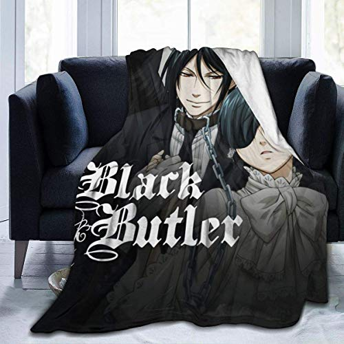 milkcolor Black Butler Picknickdecke Ultra-Soft Micro Fleece Blanket Animation 60 'x 50'