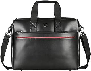 United Colors of Benetton 31 cms Black Laptop Messenger Bag (0IP6LBM01A07I)