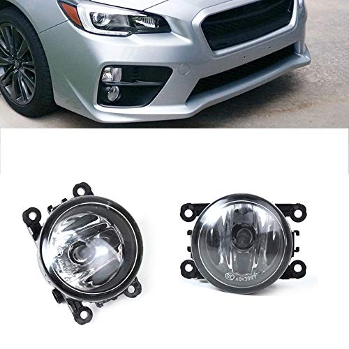 GSRECY Pair Clear Lens Fog Light Lamp Assemblies w/ 55W H11 Halogen Bulbs For Acura Honda Ford Nissan Subaru Suzuki Lincoln Jaguar