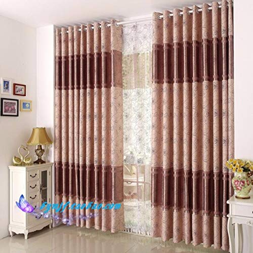 WBXZAL-Rideaux l'esthétique des Produits Plein Tissu à Rideaux Simples Salon Chambre Moderne fenêtre Flottante,250,À