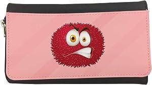 محفظة مصنوعة من الجلد  بتصميم رسوم كرتونية - وحش ملون