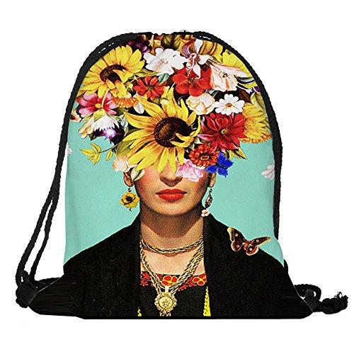 Dunbasi Mochila Mexicana con cordón para Pintor, Bolsa de Gimnasio, Bolsas de Escuela, Bolsillo de Almacenamiento para natación, Bolsa de Deporte Unisex, Color B, tamaño 38cmX30cm