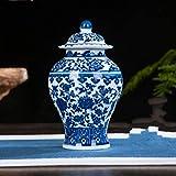 Antiguo Azul Y Blanco Jarrn Chino Tradicional Templo Jar Jarrn Estilo Ming China Florero Azul Y Blanco Cermica Jarrn Pintada A Mano Inicio Decoracin-a H17cmxw10cm